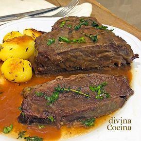 Esta carrillada de ternera en salsa es un plato fácil de preparar y siempre sale bien. La carne resulta muy tierna y melosa, y el guiso es suave y sencillo.