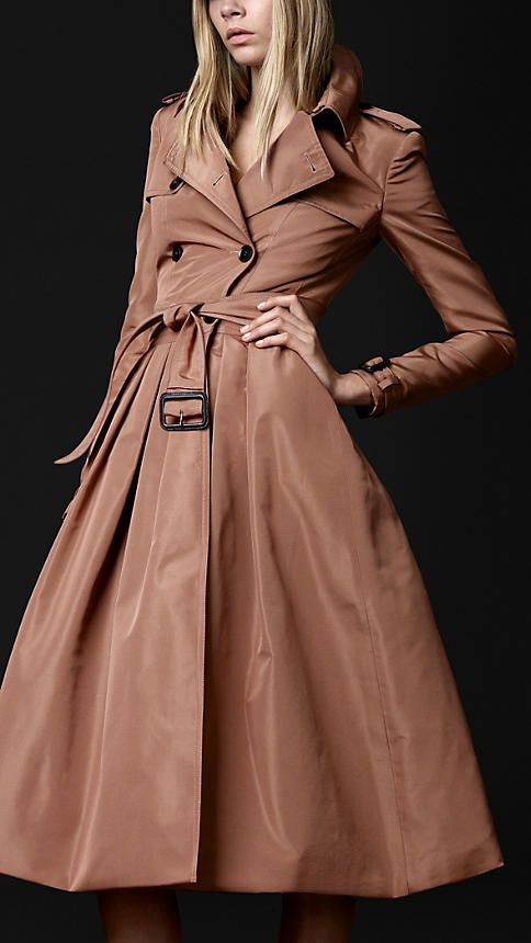 Burberry Prorsum Silk Blend Trench Coat