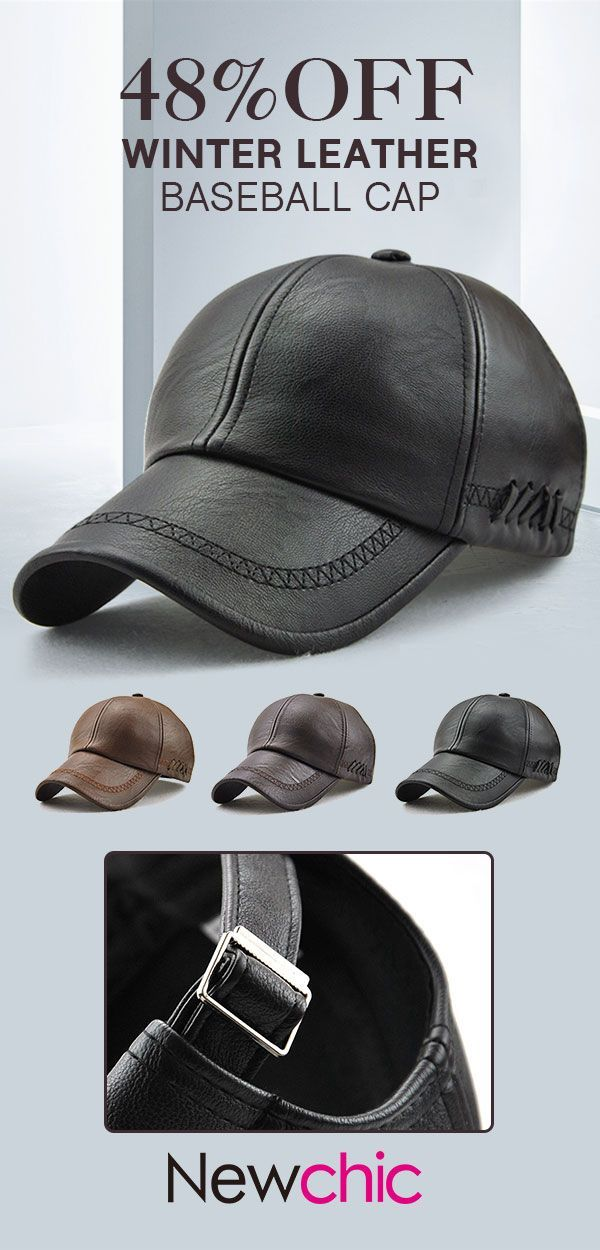 3dfecf5d9868c4 PU Leather Baseball Caps #Outdoor #Winter #Warm | Newchic Hats ...
