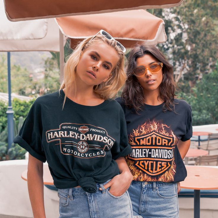 VINTAGE HARLEY TEES. [Follow us: @Peppermayo for more cuteness and daily fashion inspo.]