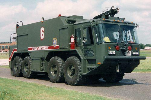 Usaf Teledyne Continental Motors 8x8 P23 Crash Truck