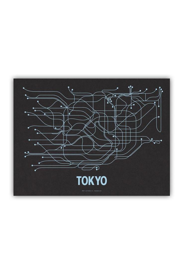 tokyoCayla Ferari, Screens Prints, Picture-Black Posters, Cities Transitional, Blue, Art, Graphics Design, Tokyo, Black Licorice