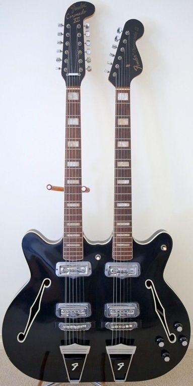 Fender Coronado doubleneck guitar --- https://www.pinterest.com/lardyfatboy/