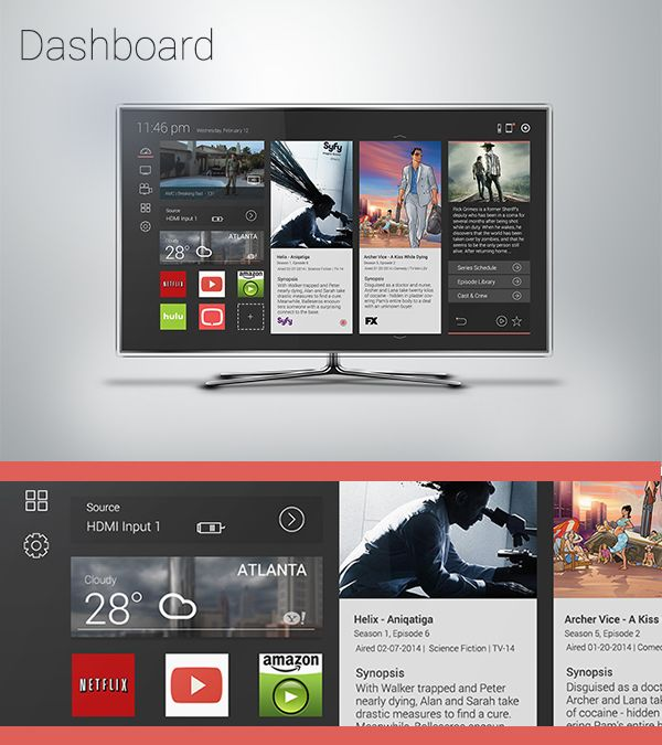 Smart TV UI by Jose Delgado, via Behance