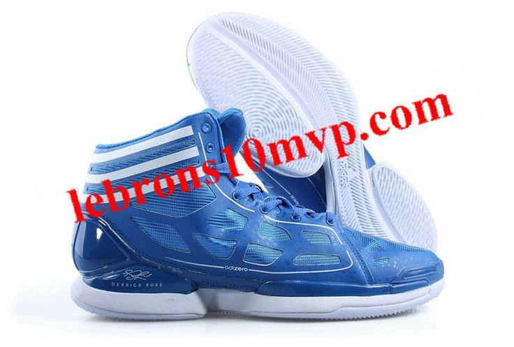 Adidas Adizero Crazy Light White Light Blue - Derrick Rose Shoes
