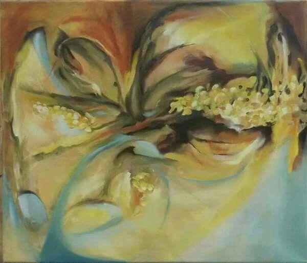 """""""Květ""""olej na plátně 60x70 cm."""