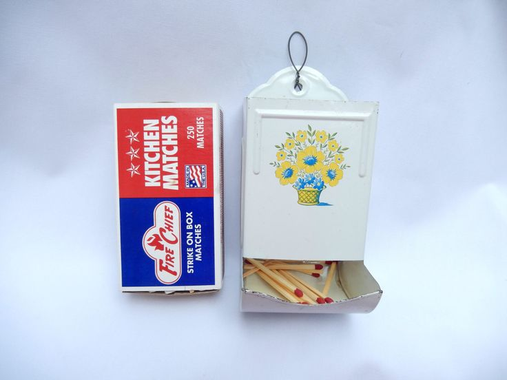 Vintage Match Holder Matchbox Holder Kitchen Decor By Pennsvintage