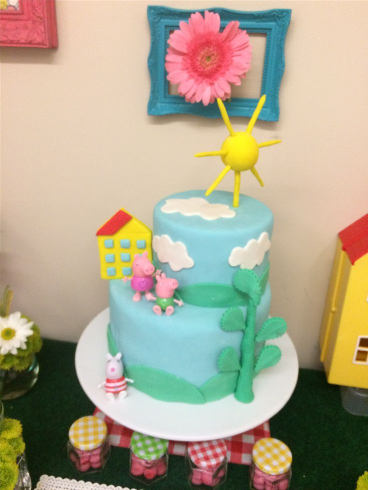 Cake Peppa Pig Picnic Party