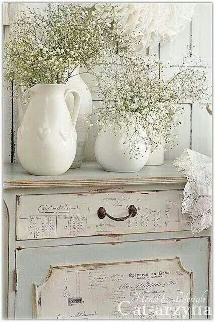 Shabby  - I have a vase that this would be pretty in