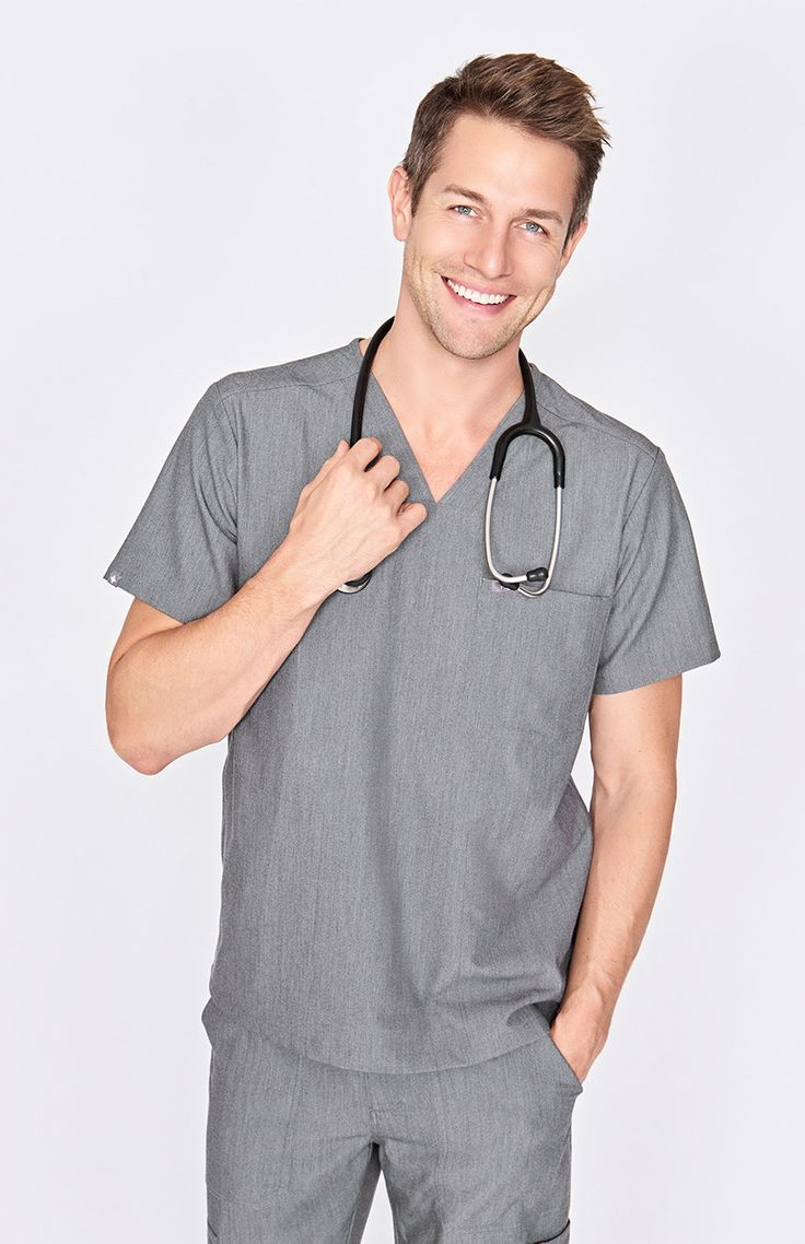 men's Chisec - three-pocket scrub top