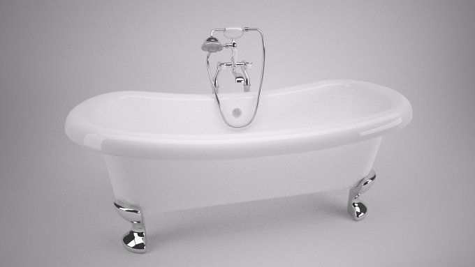 Classic Roll Top Bath by Graphics834 on @creativemarket