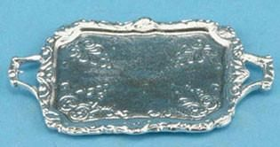 Silver Serving Tray with Handles