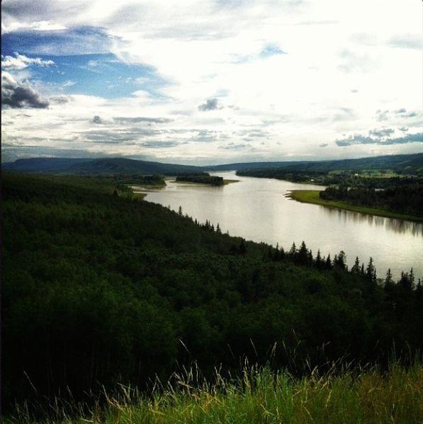 My home, Peace River, Alberta, Canada