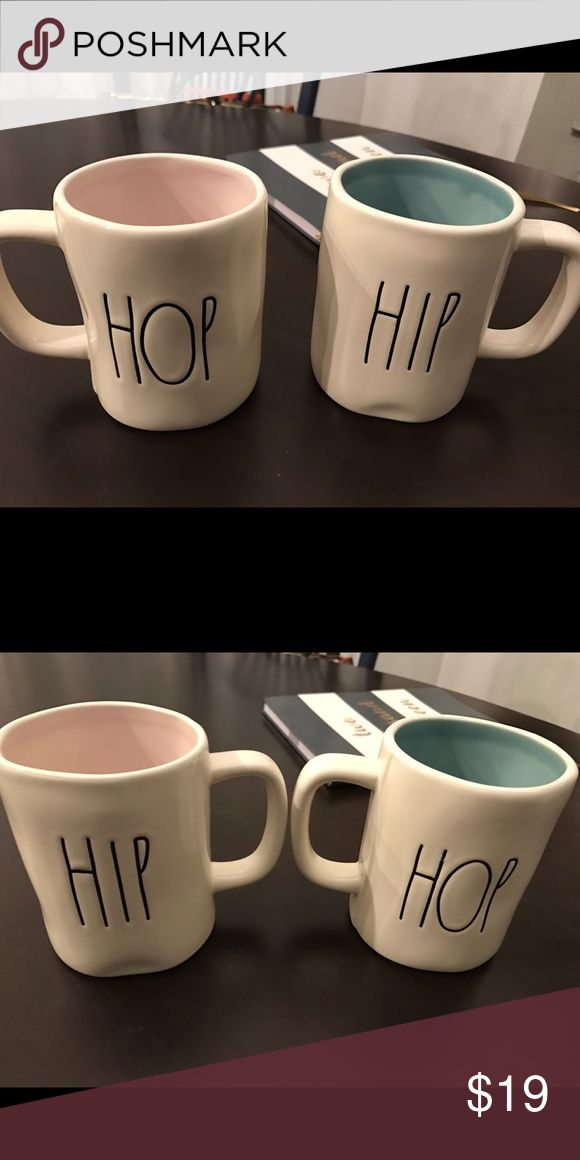 "Rae Dunn ""hip hop"" mugs Brand new! Never used. Pink one is sold, but blue is available :) Other"