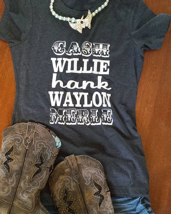 Cash Willie Hank Waylon Merle Womens Country Shirt by GKapparel