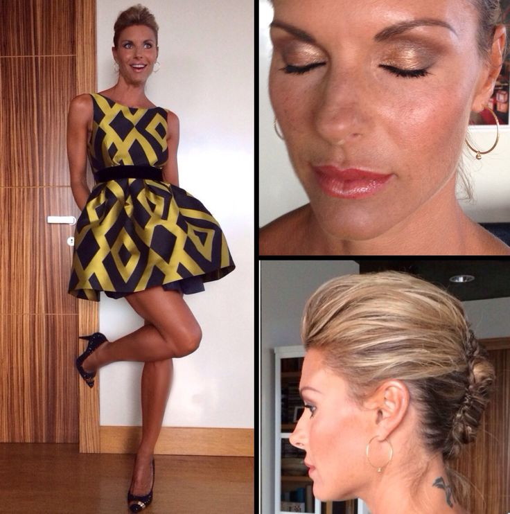 Martina Colombari glam look, beehive hairstyle, updo, makeup & hair by Elisa Rampi