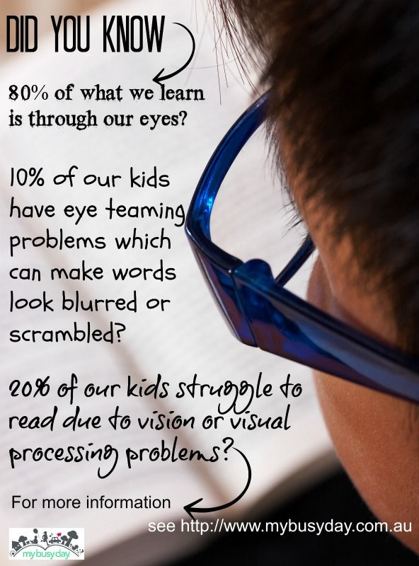 We can never really know how a child's vision and visual processing skills are working without a visit to a Developmental or Behavioural Optometrist. Efficient vision and processing skills are critical for learning.