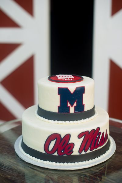 Ole Miss groom's cake |