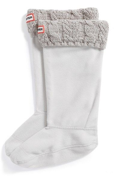 Hunter Cable Knit Cuff Welly Socks (Women) | Nordstrom