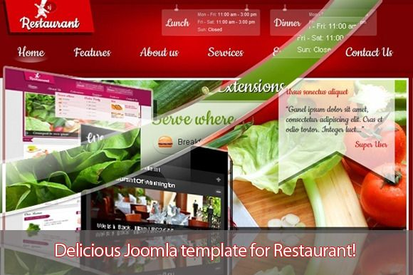 Check out SJ Restaurant - Pure design by MagenTech on Creative Market