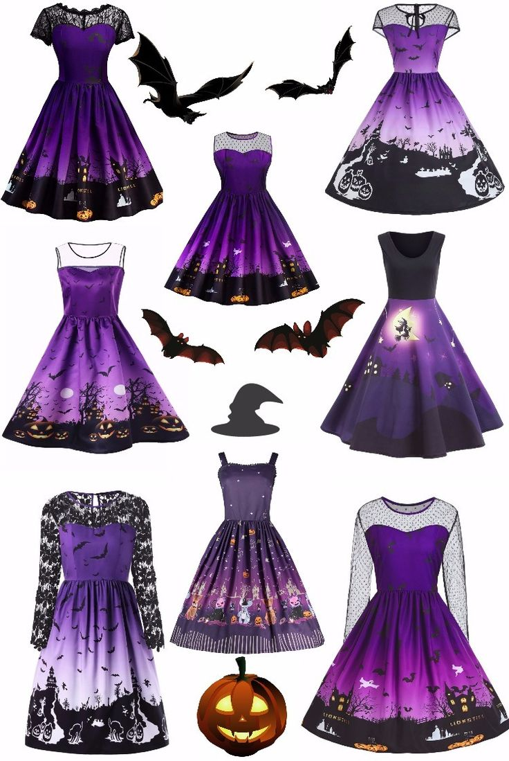 Halloween purple dress,Vintage dress,sammydress,sammydress.com