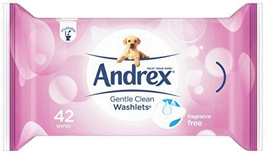 ANDREX - Washlets Flushable Toilet Tissue Wipes