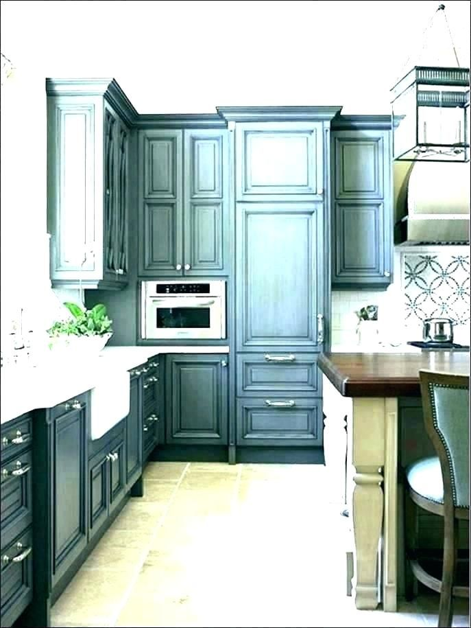 distressed gray kitchen cabinets grey distressed kitchen ...