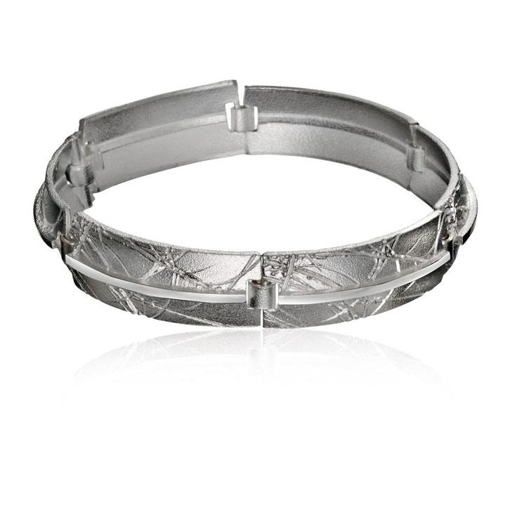 BORDERLAÏN  Design Christophe Burger  / Silver Bracelet / Lapponia Jewelry / Handmade in Helsinki