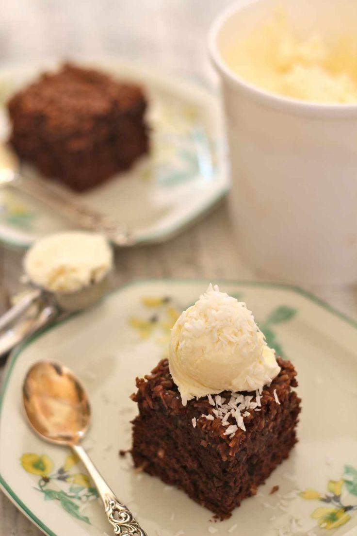 Formkake med sjokolade og kokos
