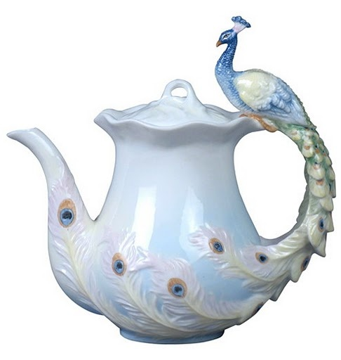 peacock teapot: Tea Party, Tea Time, Peacocks, Teapots, Peacock Teapot, Tea Pots, Teacup, Teatime