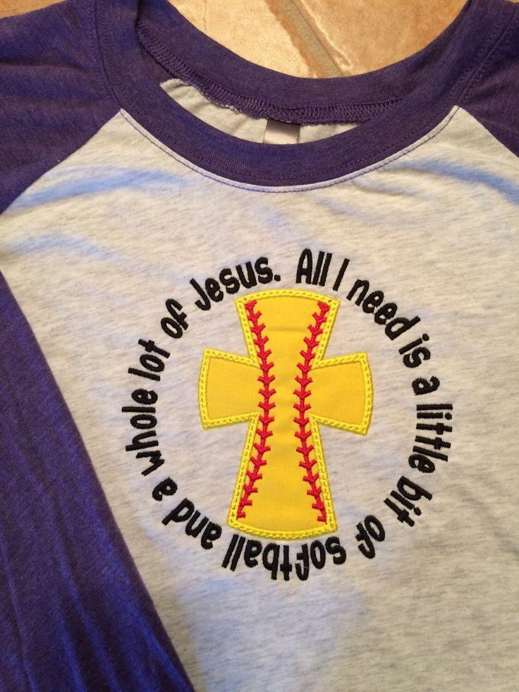 A personal favorite from my Etsy shop https://www.etsy.com/listing/267930096/jesus-raglan-softball-shirt