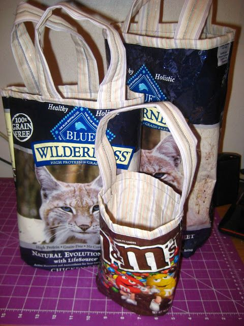 Recycling food and pet food bags into totes