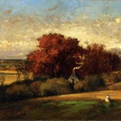 George Inness - The Old OakLandscapes Art, Painting Landscapes, Historical Painters, Art Landscapes, Artists Iii, Art George Inn, Art Trees, Art History, American Artists