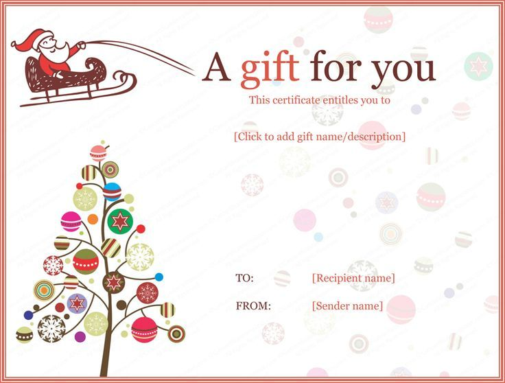 Get Beautifully Designed Jolly Simple Christmas Gift Certificate Template  From Our Premium Certificates Collection. All Designs Are Customizable And  ...  Gift Certificate Word Template Free