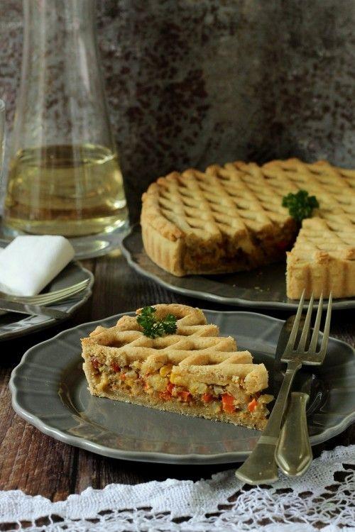 Hagymás-zöldséges pite recept