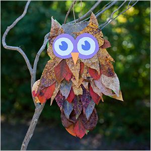 Leaf Crafts for Toddlers | ... leaves and make this fall leaf owl craft from Six Cherries on Top