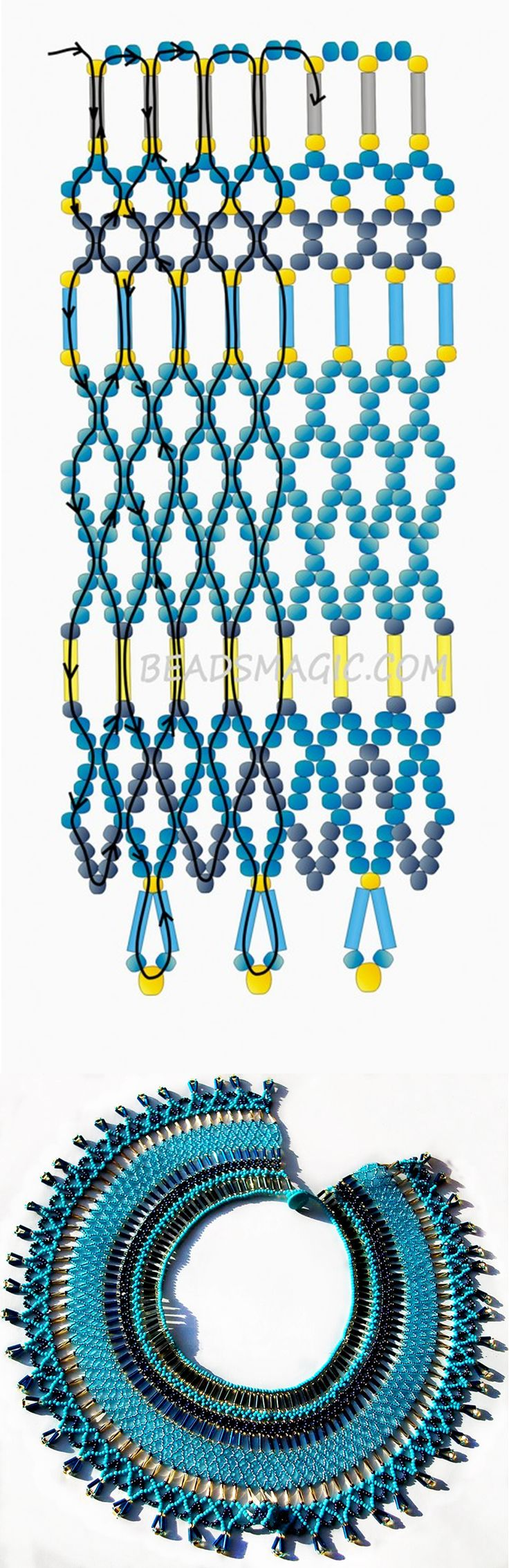 Free pattern for necklace Egypt | Beads Magic