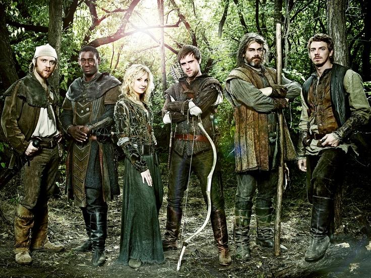 Robin Hood (TV show) Sam Troughton, David Harewood, Joanne Froggatt, Jonas Armstrong, Gordon Kennedy and Joe Armstrong (from left)
