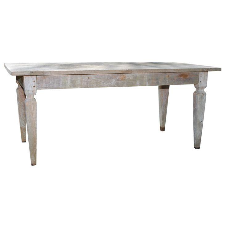 Silvered Teak Dining Table - Indonesia, 1970 | Teak dining ...