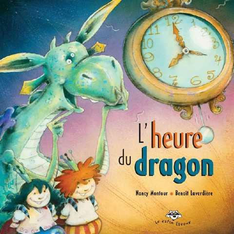 L'heure du dragon, Nancy Montour (album) - Comme la plupart des dragons, Pinoche ne sait pas lire l'heure. Mais, lors d'une folle soirée passée avec un petit prince et sa sœur, il aura tôt fait d'apprendre qu'il existe une heure pour chaque activité amusante : danser, jouer, lire une histoire. Et, puisque toute bonne chose a une fin, il y a même une heure pour le dodo!Un album rempli de fantaisie qui, mine de rien, initie les enfants à la lecture de l'heure.