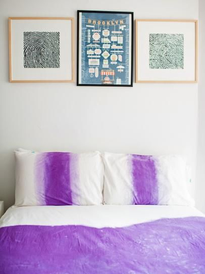 How To Ombre Dip Dye A Duvet Cover