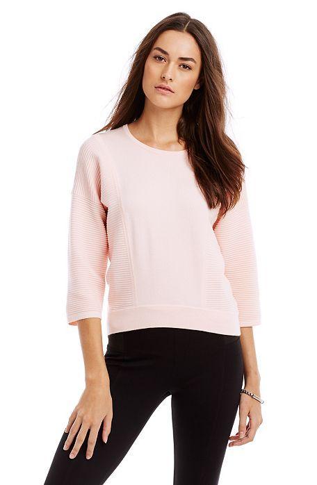 Ottoman Stitch Top - Sweaters - Womens - Armani Exchange