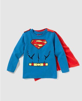 Camiseta de niño Personajes en azul de Superman