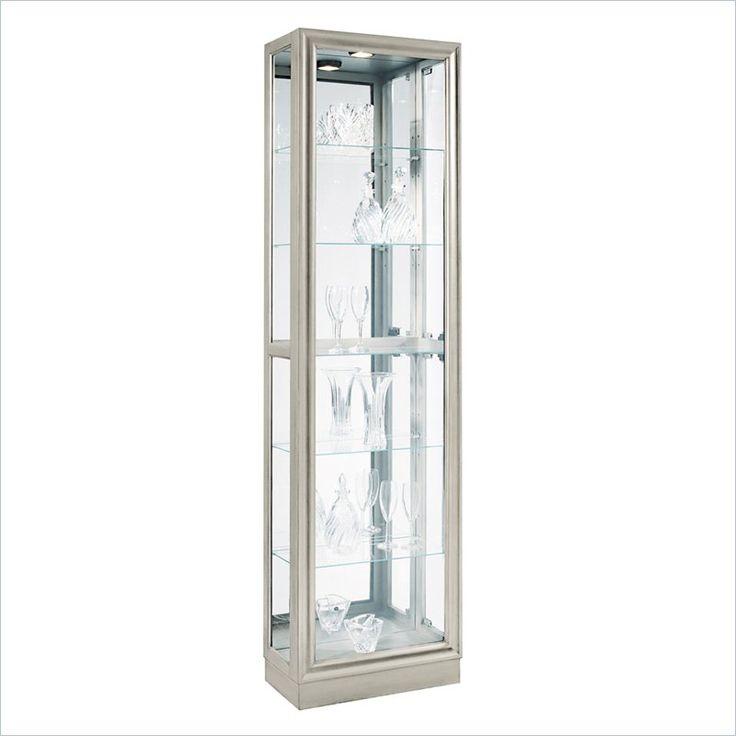 Curio Modern Display Cabinet in Platinum - 21455 - Lowest price online on all Curio Modern Display Cabinet in Platinum - 21455