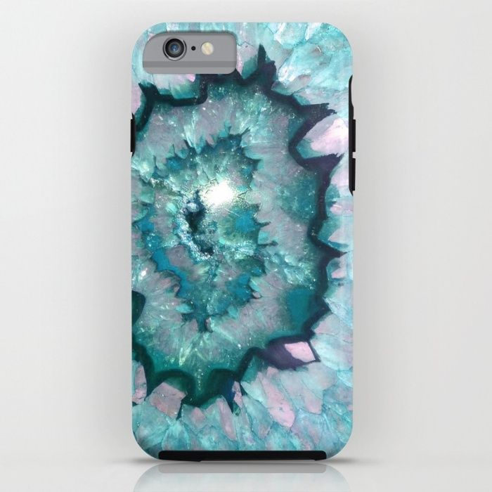 Teal Agate iPhone & iPod Case by TheQuarry | Society6