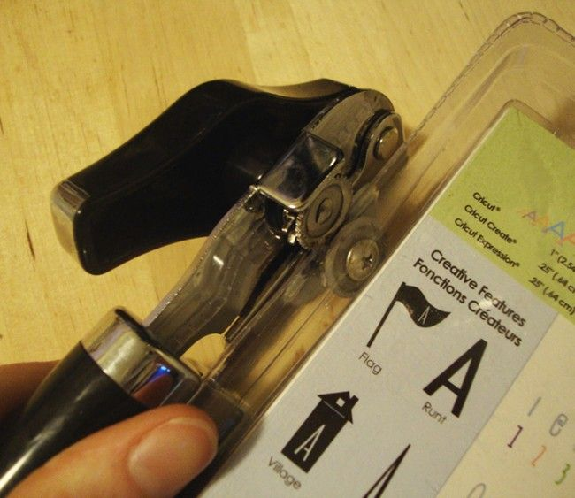Use a can opener on difficult  plastic packaging.