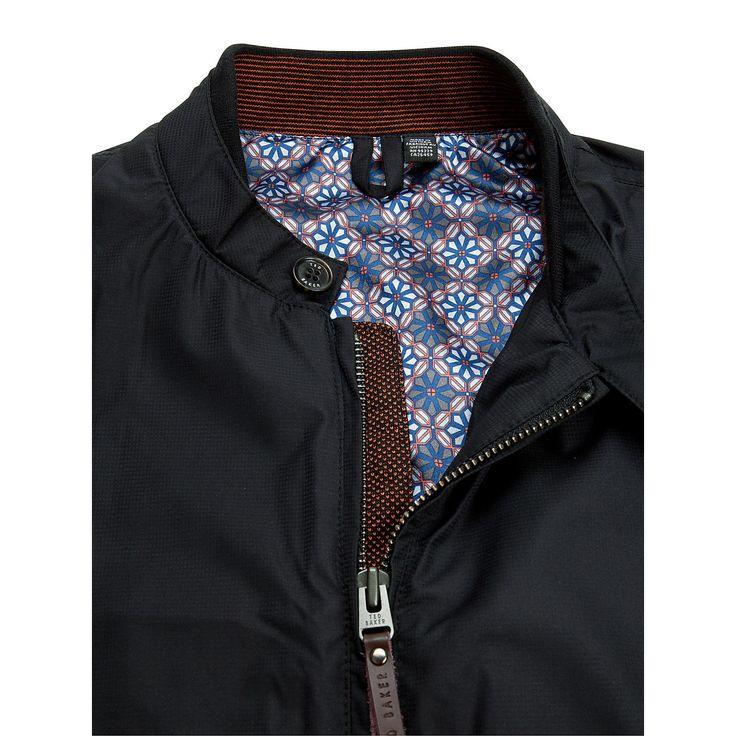 Buy Ted Baker Bilbo Nylon Bomber Jacket, Black online at John Lewis