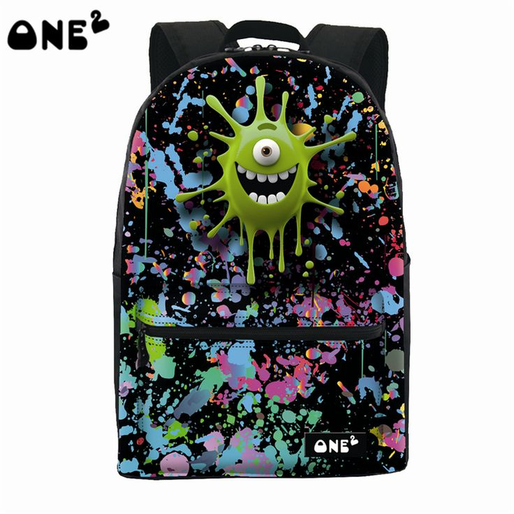 ONE2 light and colorful kids canvas school backpack custom travelling backpack korean style backpack girls leather backpack bags