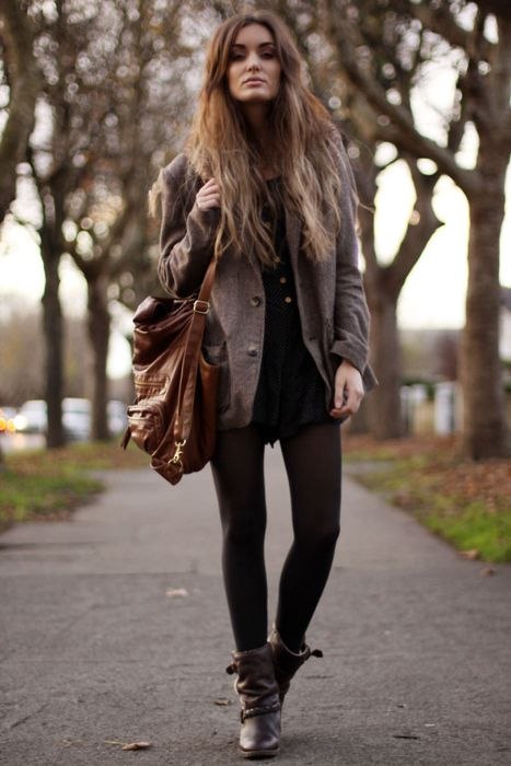 : Fashion, Style, Clothes, Dress, Outfit, Closet, Fall Winter, Hair, Boots
