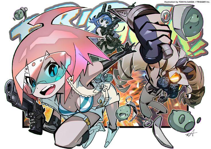 tokiya sakba for Trigger Studios mascot Trigger-chan -- debut in Luluco, I think?